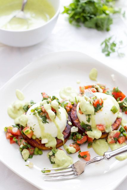 Brighten up your morning with this flavorful dish... Baja Eggs Benedict!