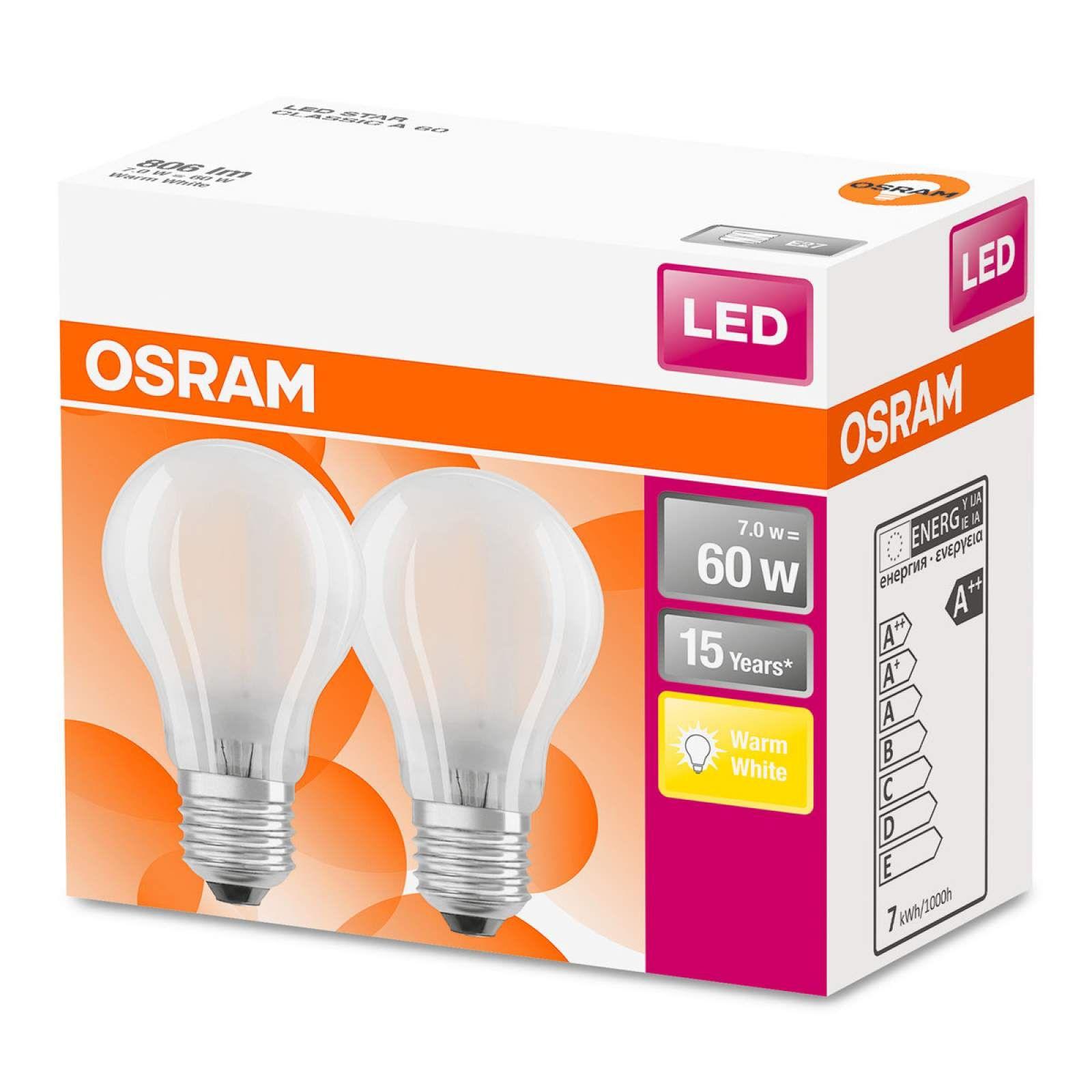Osram Led Lampe E27 7w Warmweiss Im 2er Set Led Led Lampe Und Osram