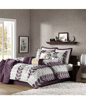 Zoe 12 Piece California King Comforter Set Bed In A Bag Bed