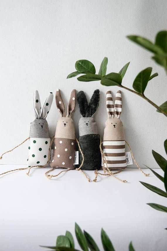 Mini Bunny Toy, Nordic Handmade Forest Theme Stuffed Little Rabbit Toy, Soft Cotton Fabric baby toy, Newborn Toy, Unisex Toys #toydoll