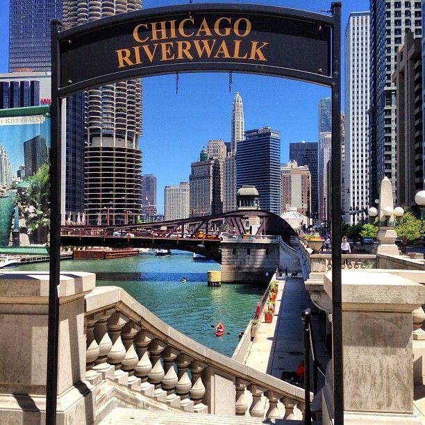 Chicago Riverwalk in Chicago IL  Travel  Pinterest  Chicago