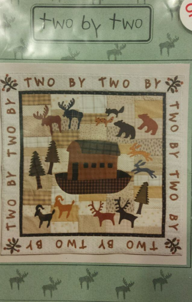 Quilt Pattern Two By Two Cabbage Rose Baby Primitive Deer