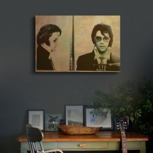 Oliver Gal Elvis Mugshot Canvas Art