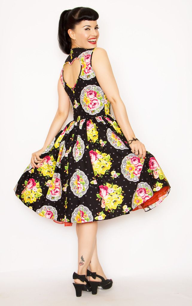The Absolute Sweetheart Swing Dress Dolly Print