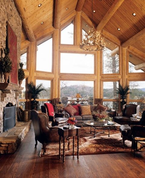 Mountain Home By Caribou Creek Log Homes