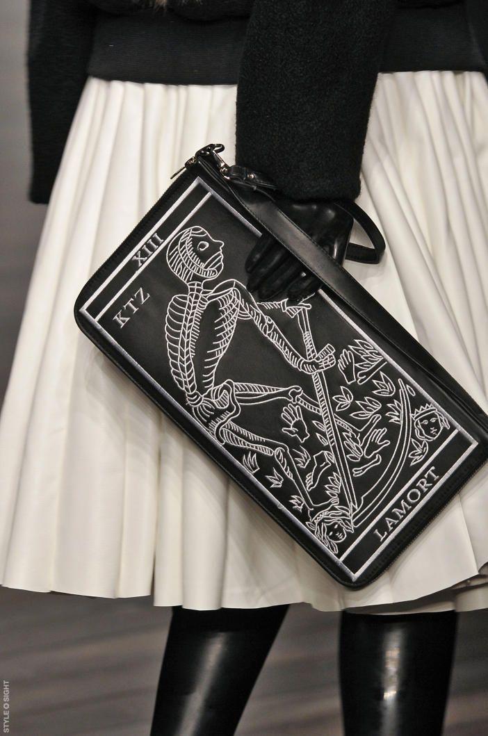 Ktz Aw13 14 La Mort Tarot Card Bag