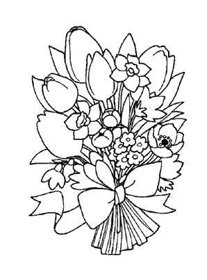 Bunter Blumenstrauss 1 Zum Ausmalen Ausmalbilder Malvorlagen Kindergarten Blumen Blumenstrauss Ausmalbilder Blumenstrauss Bilder Ausmalen