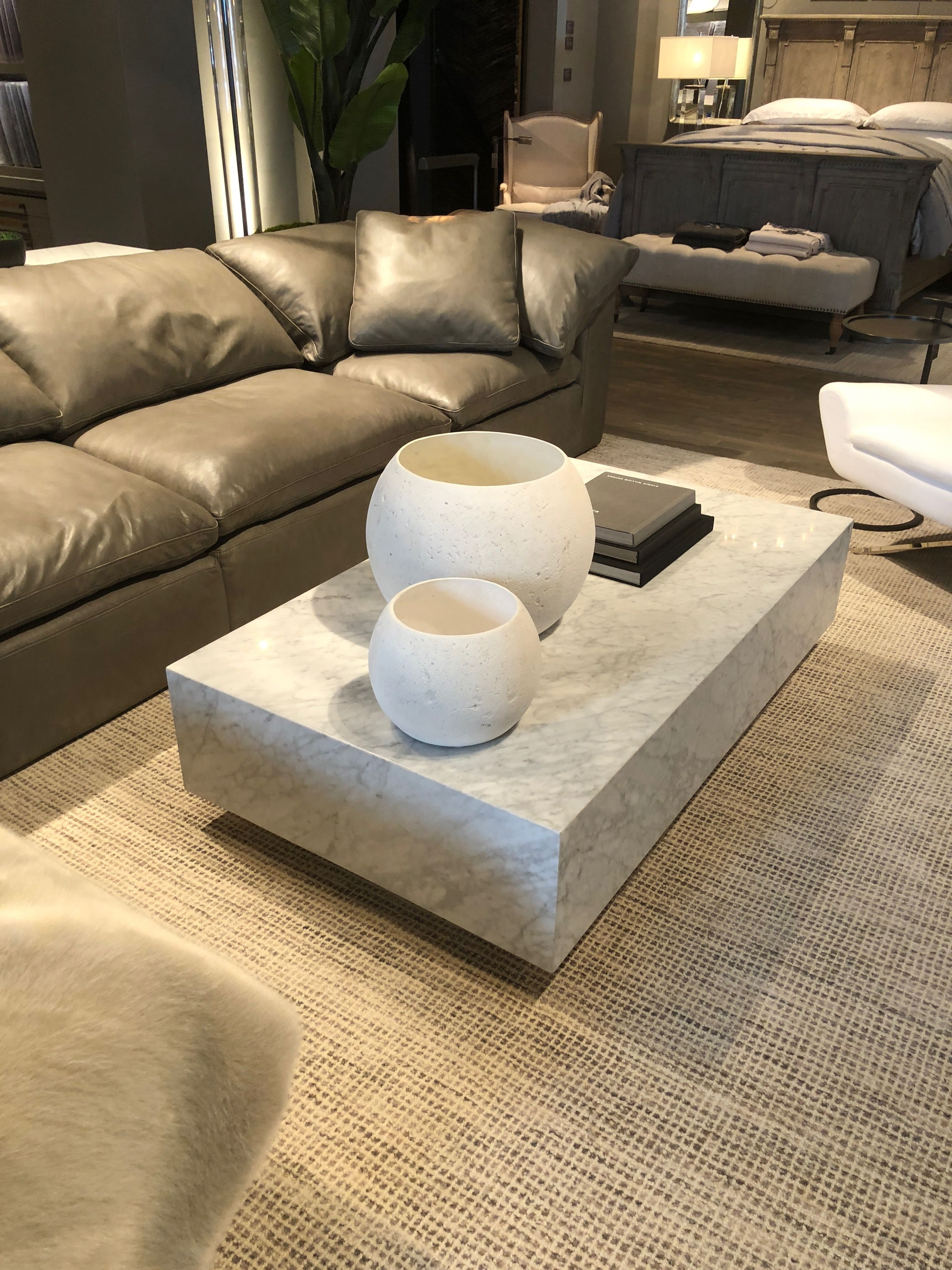 Restoration Hardware Marble Coffee Table Coffee Table Square Coffee Table Leather Ottoman Coffee Table [ 4032 x 3024 Pixel ]