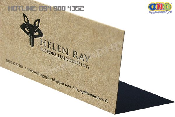 Kraft paper printed business cards print card visit hanoi kraft paper printed business cards reheart Image collections