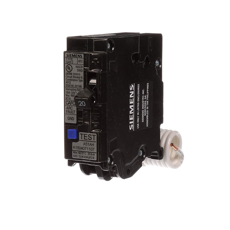 siemens qa120afcp 20 amp single pole 120 volt plug on combination afci breaker [ 1500 x 1500 Pixel ]
