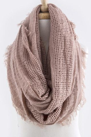 Earthy Infinity Scarf in Dusty Pink