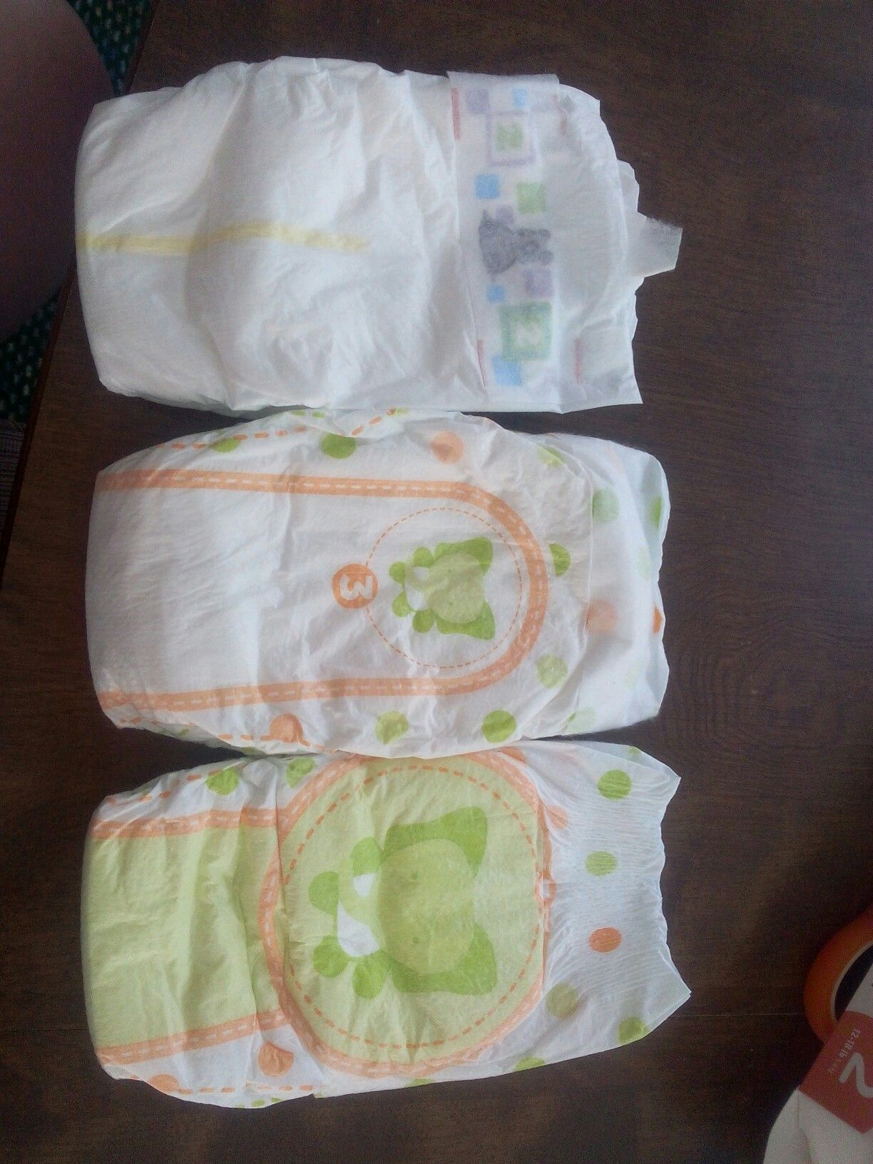Aldi Little Journey Diapers The One On Top Is Size 2 And The Bottom