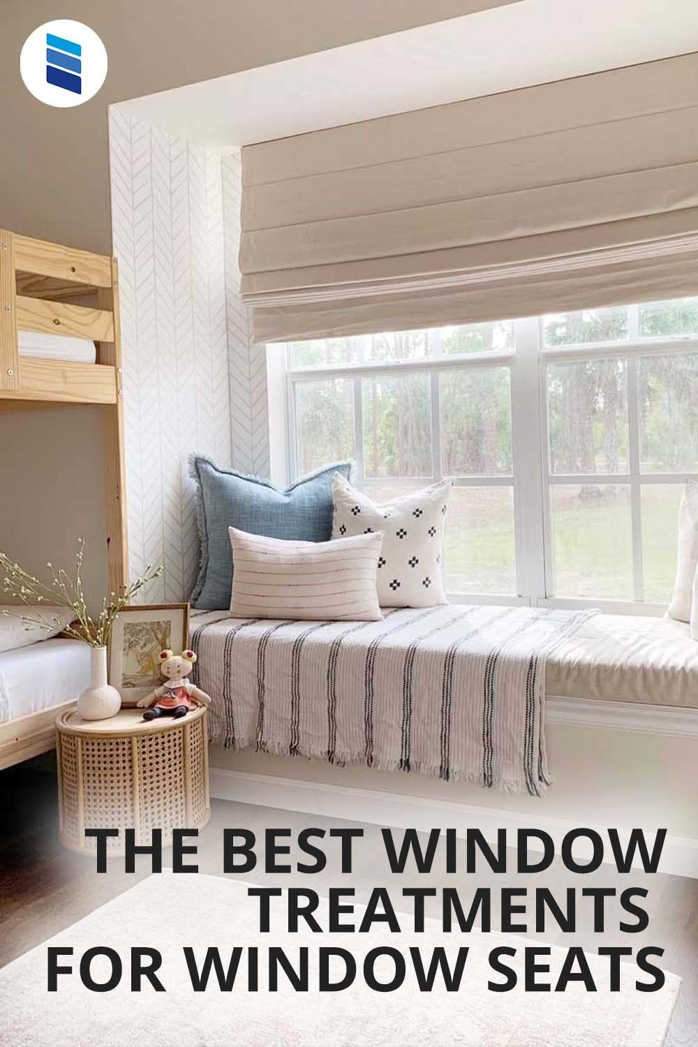 The Best Window Treatments For Window Seats Blinds Com Roman Shades Living Room Large Windows Living Room Living Room Windows