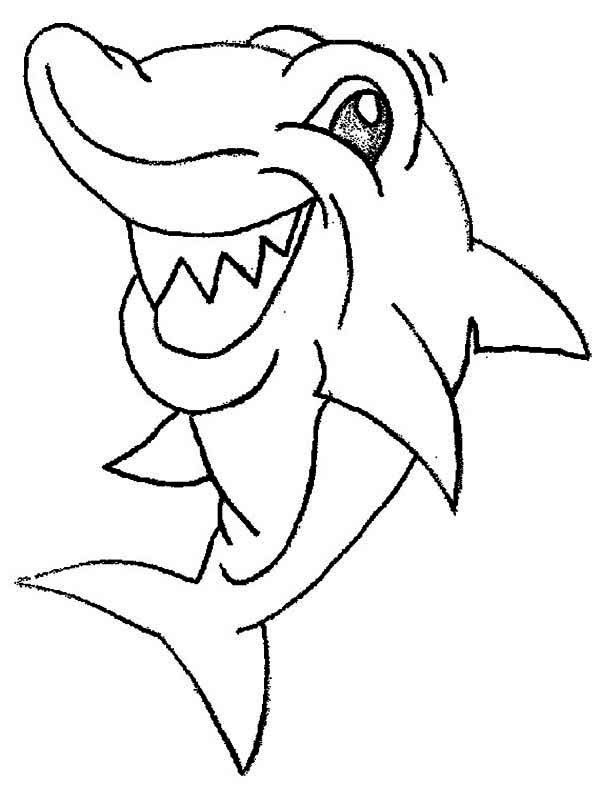 This Shark Is Seeing Something Funny Coloring Page Kids Play Color Shark Coloring Pages Cartoon Coloring Pages Animal Coloring Pages
