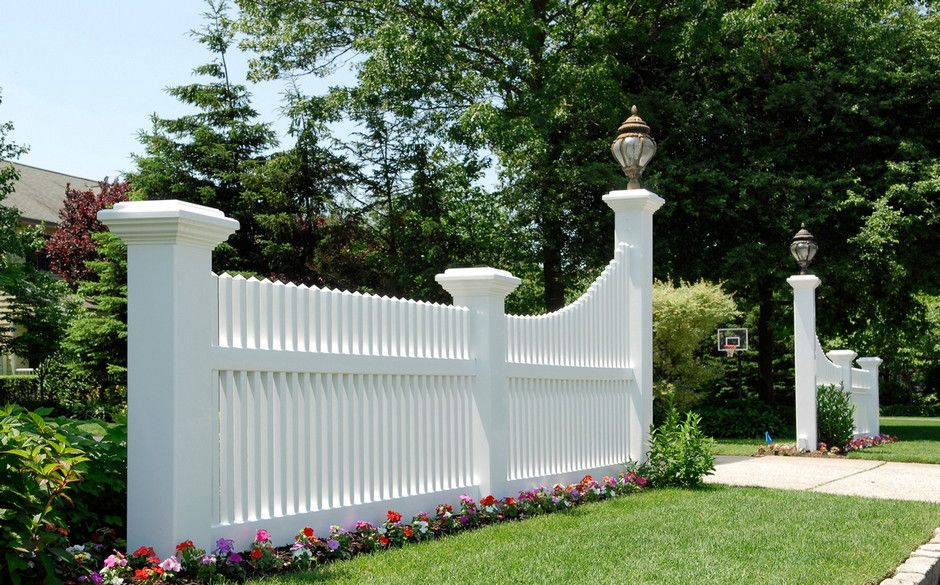 Vinyl Ranch Fence At End Of Driveway