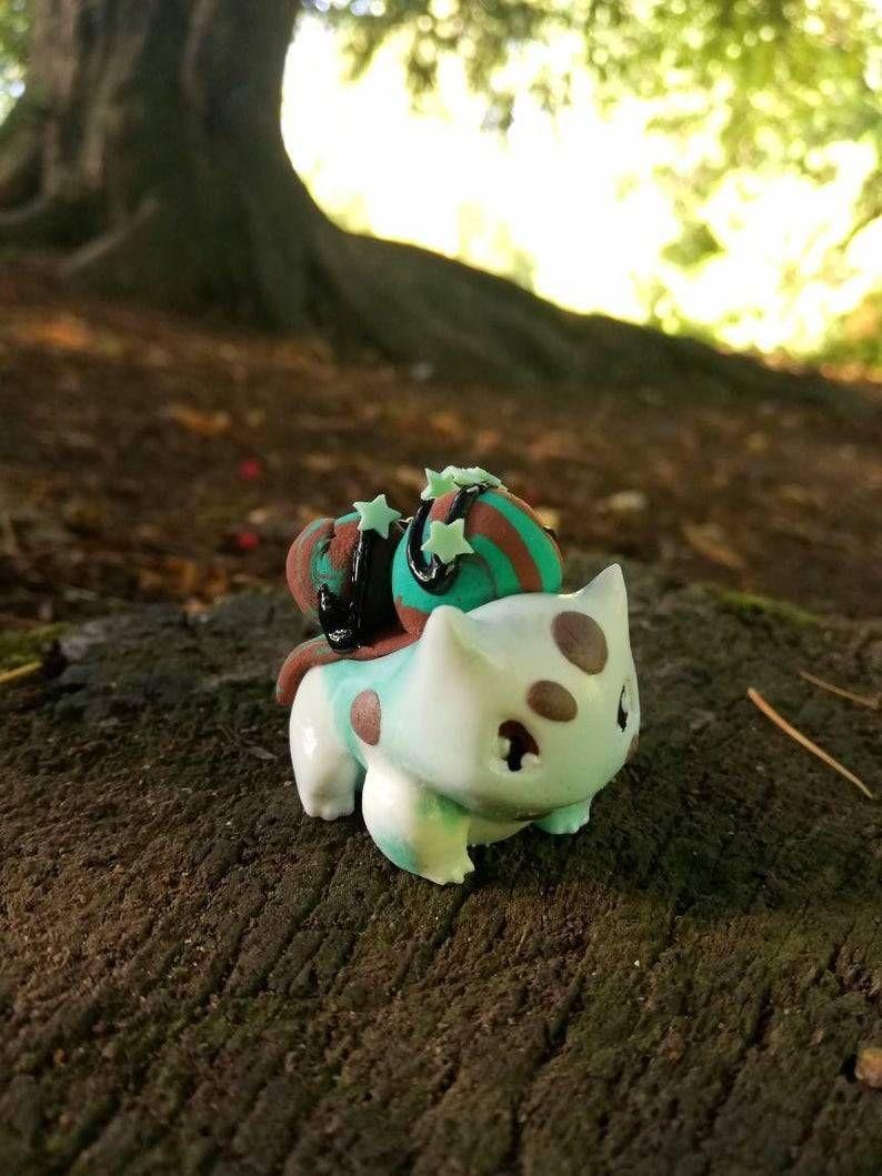 Bulbasaur Ice Cream Sundae Figures made by Saphira -