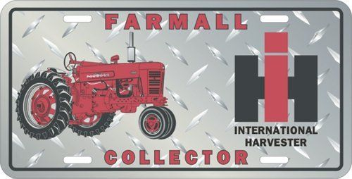Farmall Collector Metal License Plate By Farmall 8 59 Made In