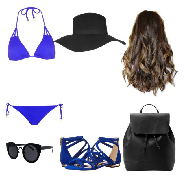 """Beach day"" by vielka-prado on Polyvore featuring Topshop, Ted Baker and MANGO"