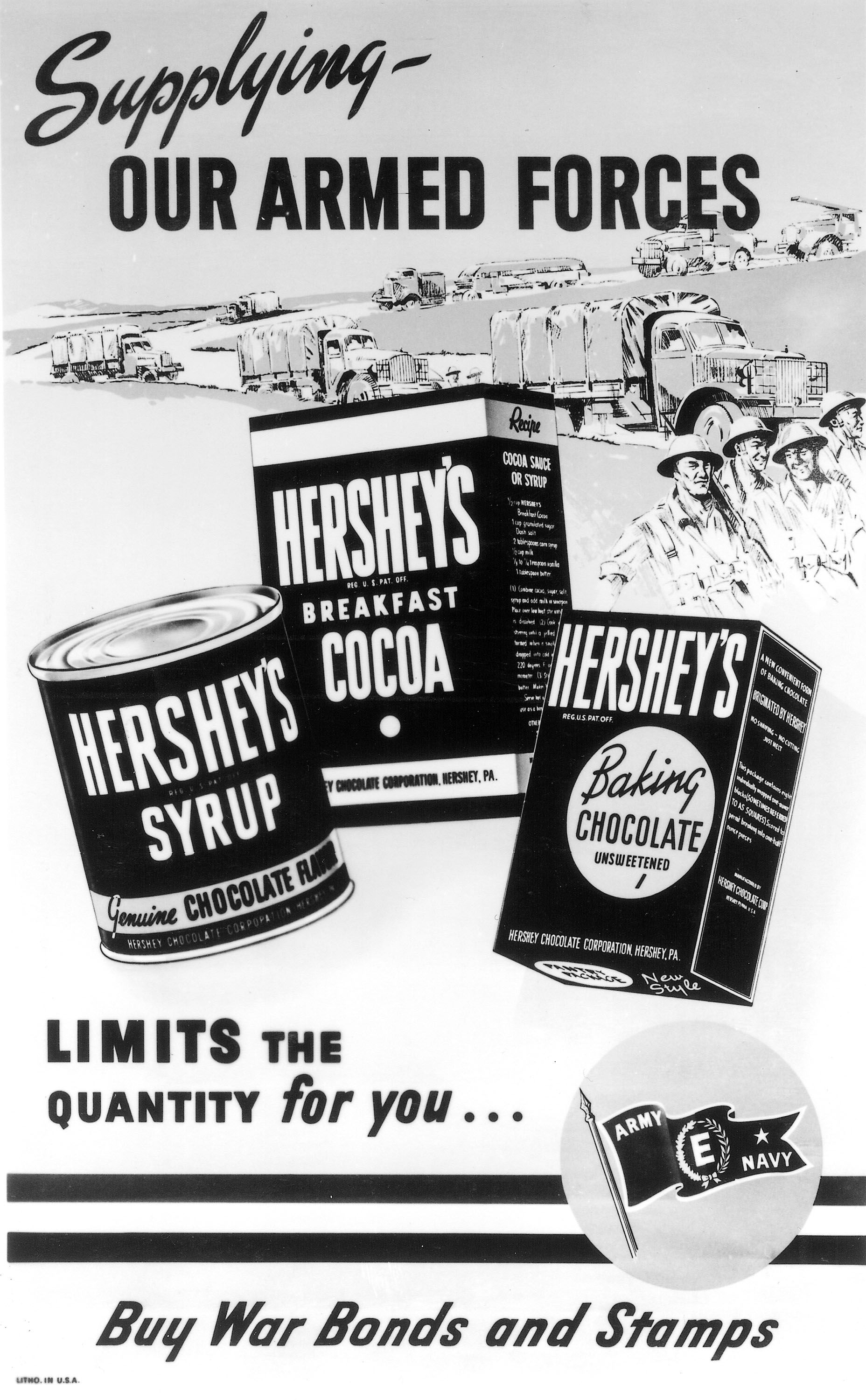 Hershey and World War II | Wwii posters, Vintage ...