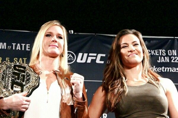 Miesha Tate and Holly Holm Hot! | Female mma fighters, Miesha tate ...