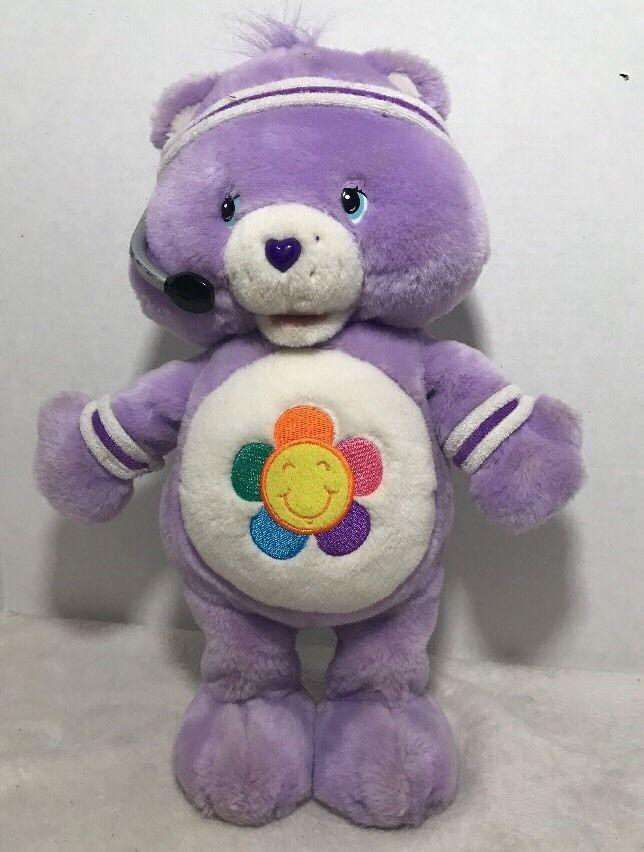 2004 Care Bear Fit N Fun Purple Harmony Workout Talking