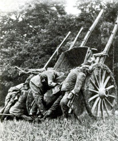 WWI, Dead German Soldiers, Battle of the Marne, 1914
