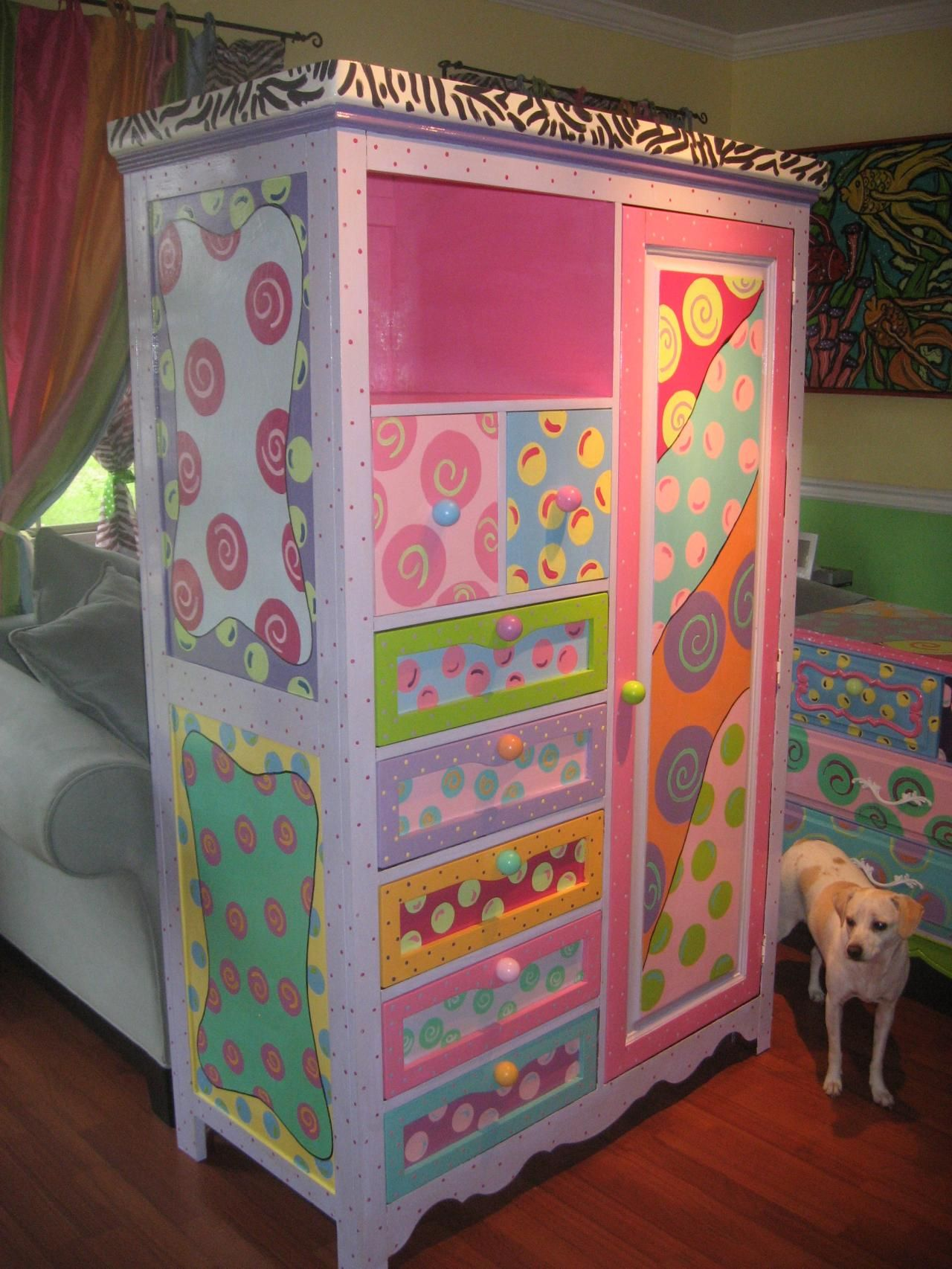 Muebles Marroquies Whimsical Painted Furniture Copyright 2010 Funky