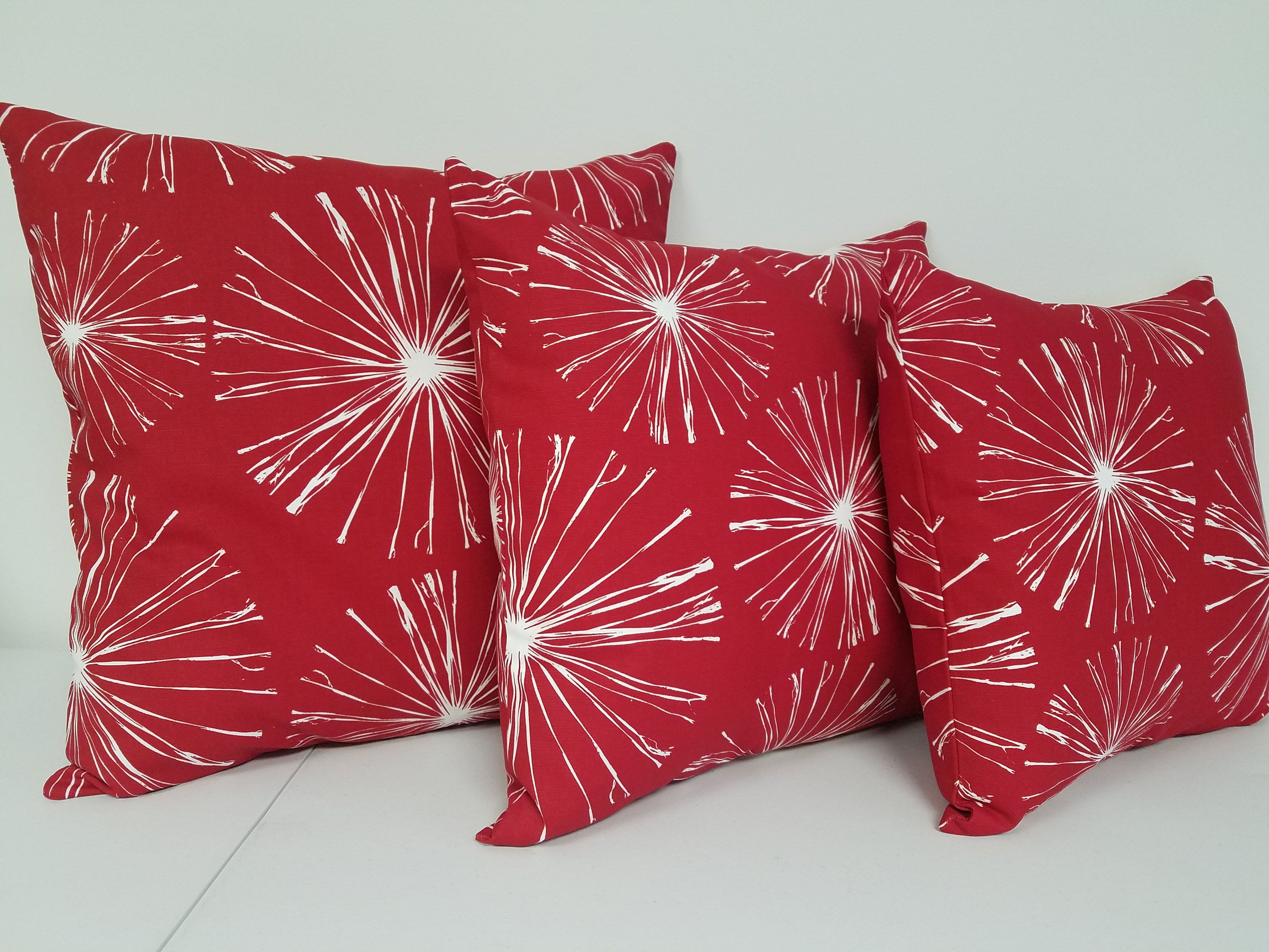 pillow windowpane decor throw luxury home pillows of teen spencer red geometric