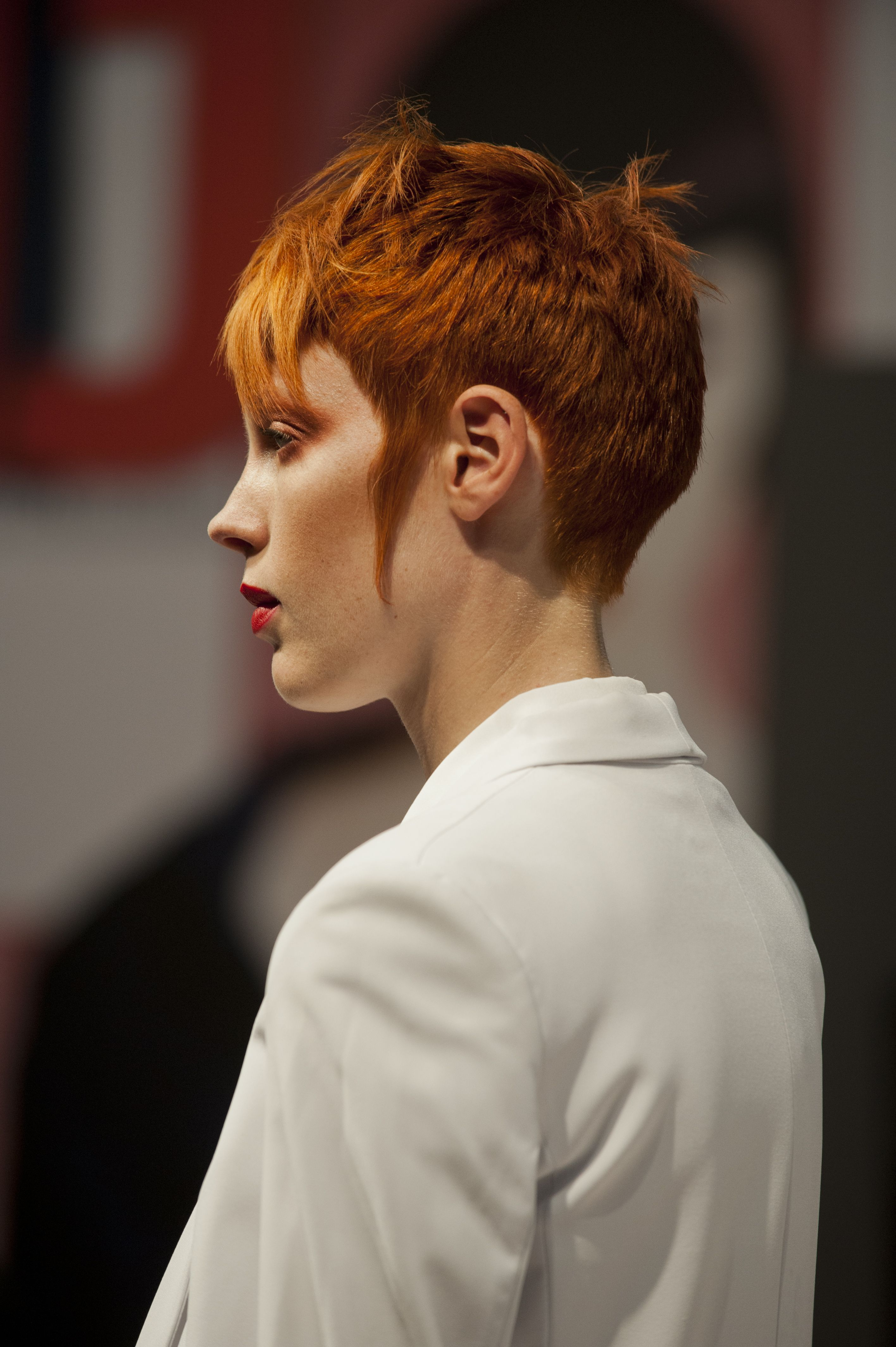Red pixie crop by hob salons at salon international hair