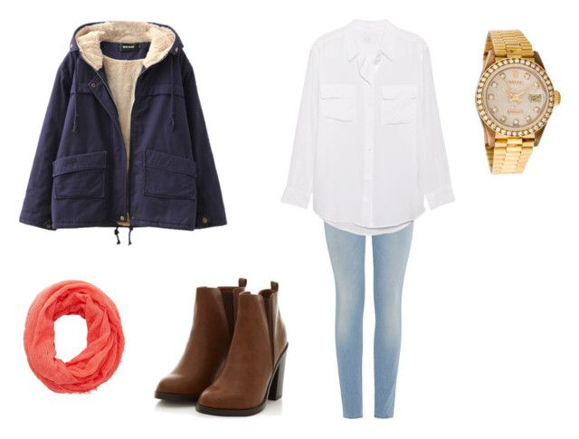"""""""Sin título #31"""" by tvj19 ❤ liked on Polyvore featuring mode, Chicnova Fashion, 7 For All Mankind, Equipment, Charlotte Russe et Rolex"""