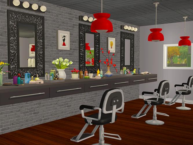 Beauty Salon Inspo Sims 4 custom content, Sims, Sims 4