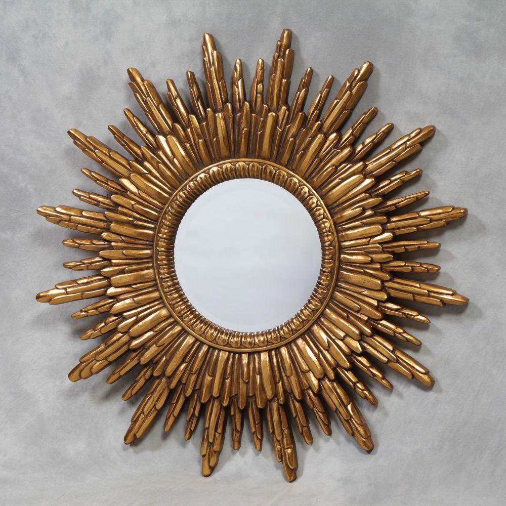 "BEAUTIFUL ANTIQUE GOLD FRAMED SUNBURST MIRROR 89cm (35"") DIAMETER - NEW in Home, Furniture & DIY, Home Decor, Mirrors | eBay"