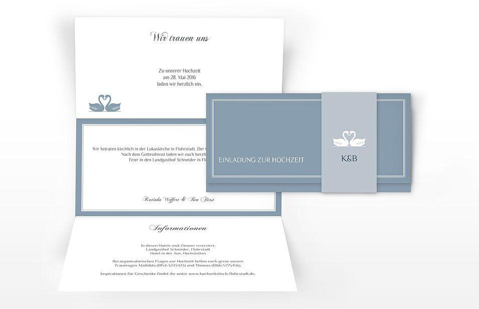 Diese Einladung Zur Hochzeit Besticht Mit Schlichter, Stilvoller Eleganz.