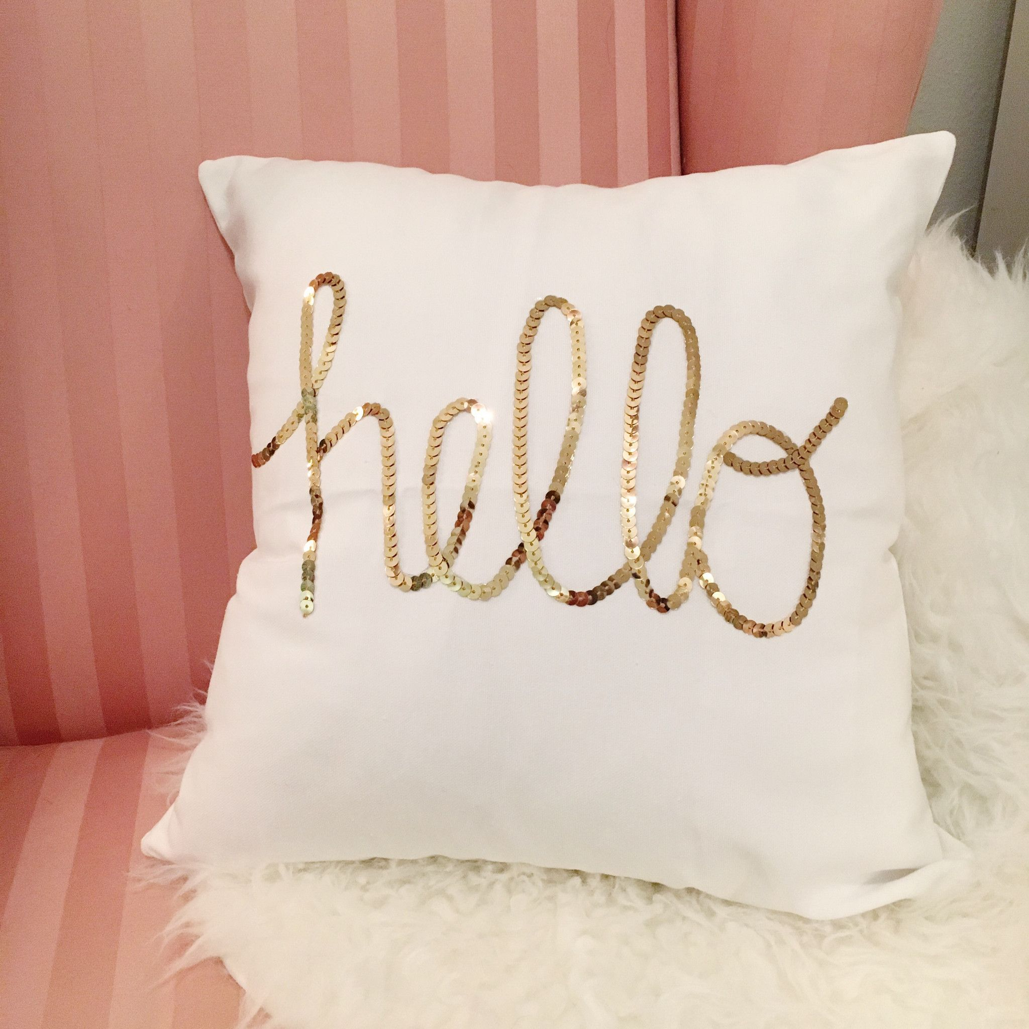 gold pillow insert sequins products changing color pillows sequin with inches mermaid white img