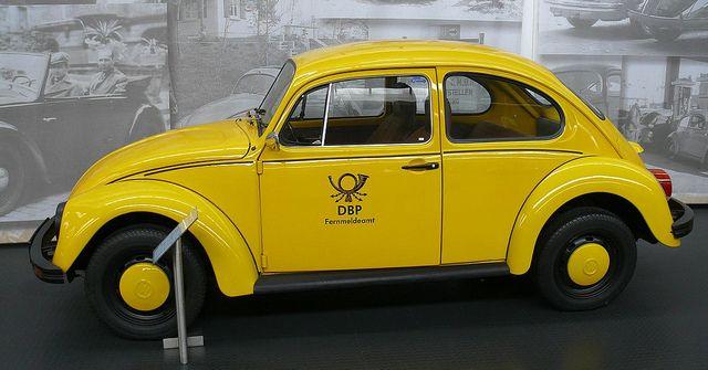 VW Käfer 1200 yellow Deutsche Bundespost 1977