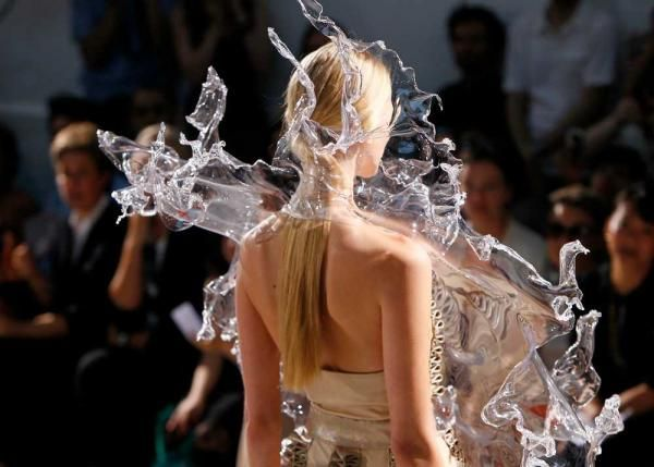 Iris Van Herpen Crystallization Water Dress Surrealist Fashion