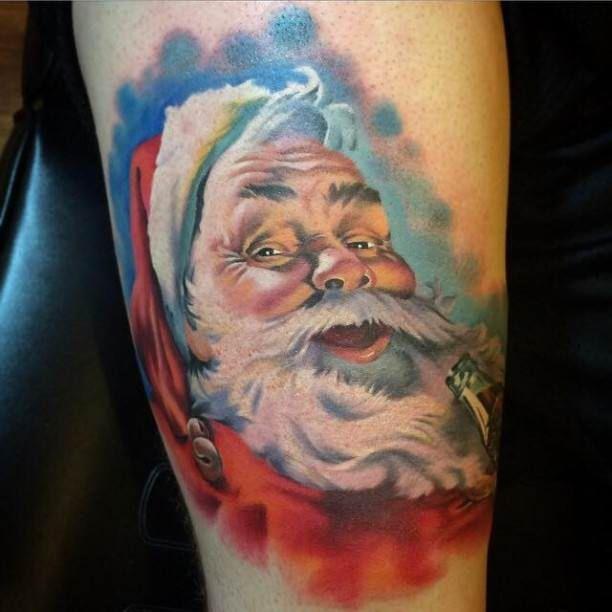Tribal Santa Tatoo: Santa Claus Tattoo #Tattoo, #Tattooed, #Tattoos