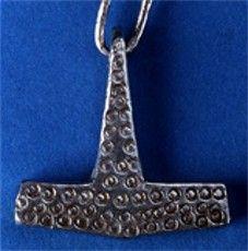 Silver Thors hammer   7th Century CE. Tågemosen, Denmark