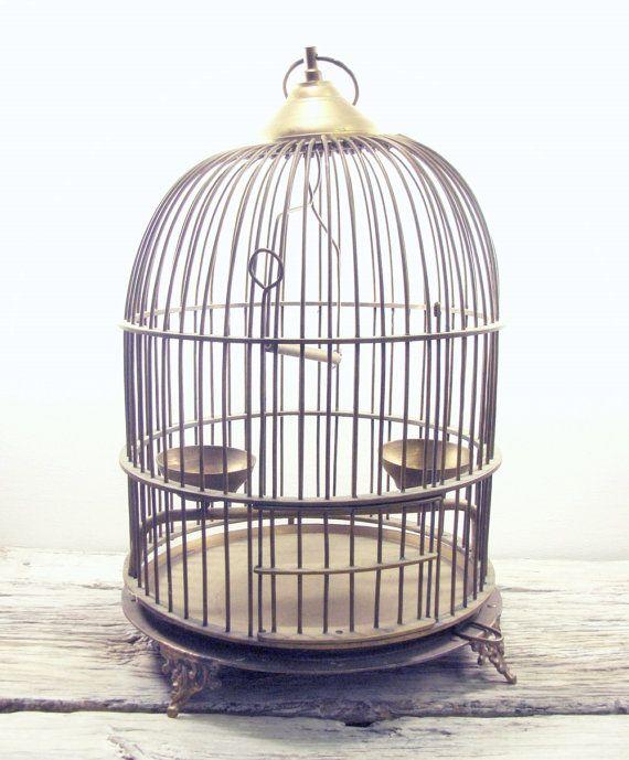 Solid Brass Bird Cage $195
