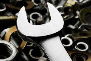 Wrench, nuts and bolts