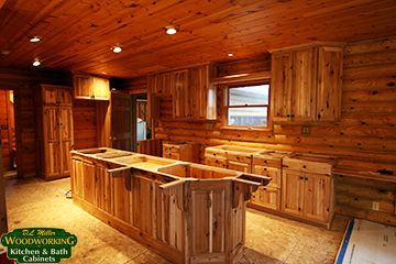 Assembled+hickory+kitchen+cabinets | Amish Made Custom Kitchen And Bath  Cabinets