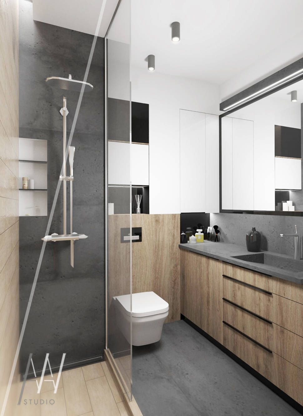 Pomys Y Na Wn Trza I Zdj Cia Dekoraci Wn Trz Small Bathroom  # Muebles Kowalczuk