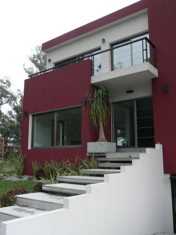 Colores Para Una Casa Exterior Casas Vermelhas Fachadas De Casas Casas Pintadas