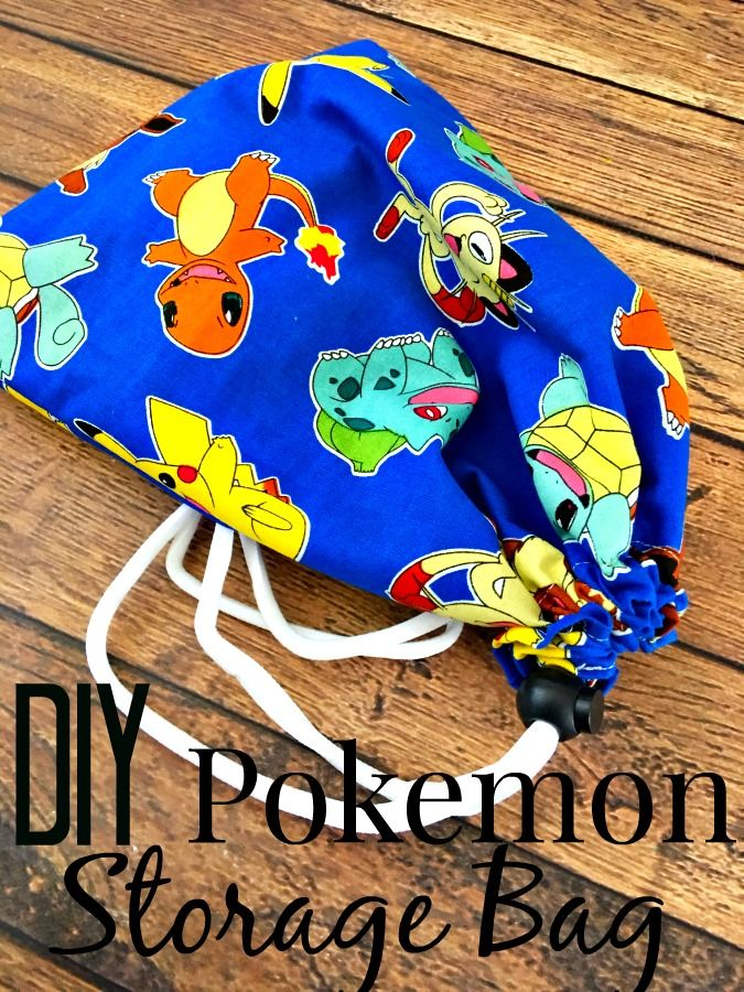 Sewing For Beginners Diy Pokemon Storage Bag Popular On Six