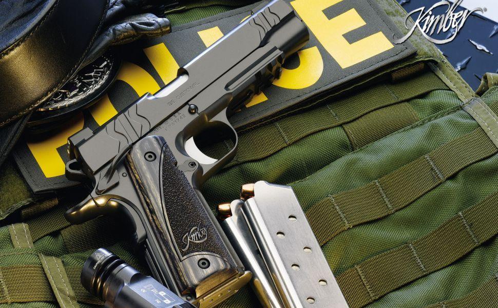Police Gun HD Wallpaper
