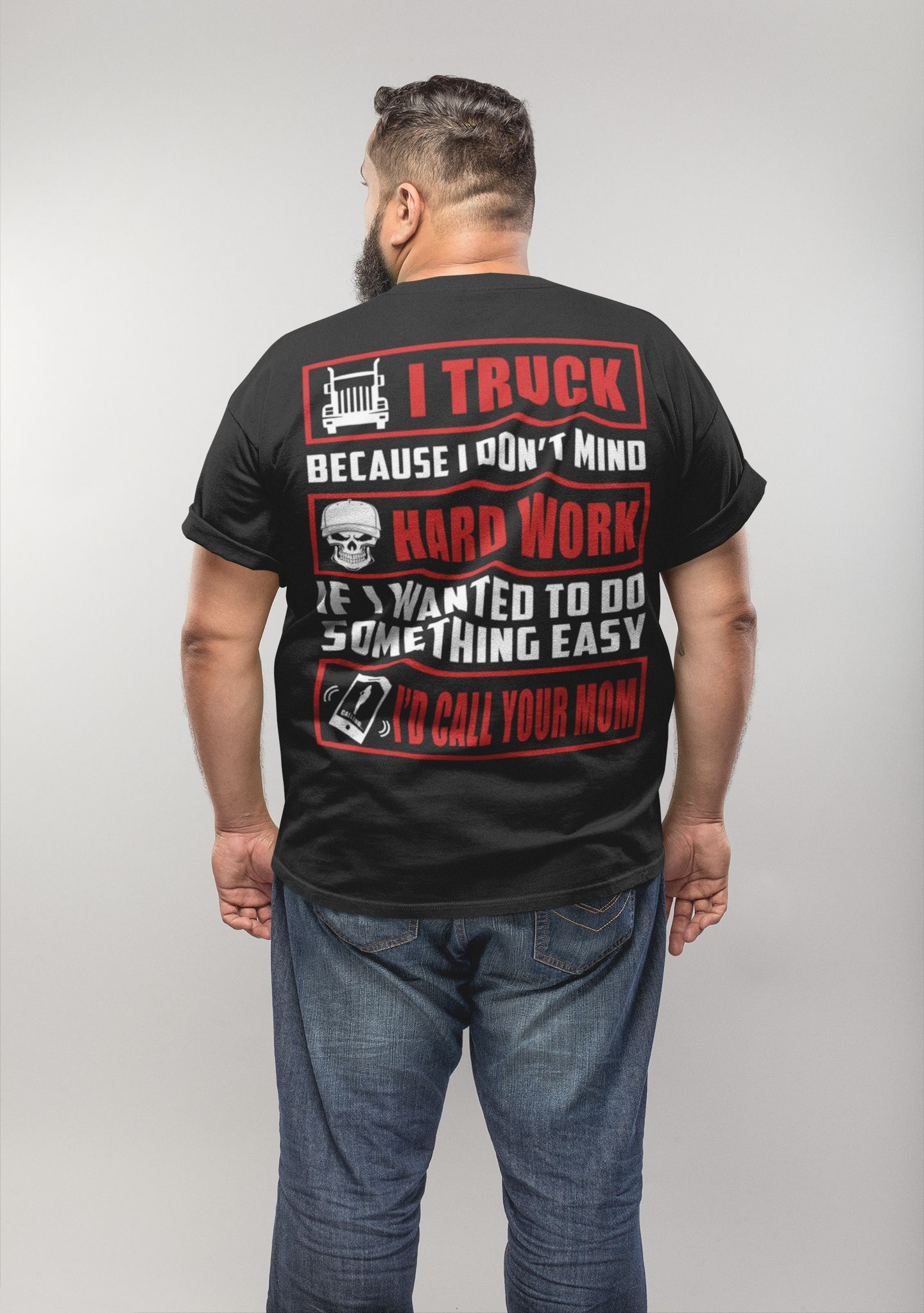 ffd28b68 Trucker Shirt - Truck Driver Works Hard - Truck Driver Gift - Design  available on Tee Shirt Hoodie Tank Mug Sticker Long Sleeve .