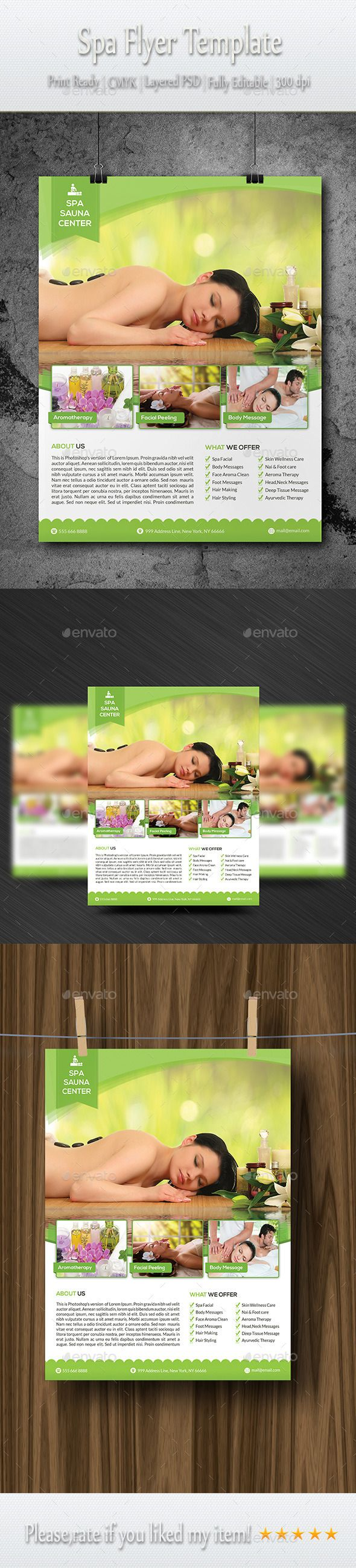 Spa Flyer Template PSD Buy And Download Httpgraphicrivernet - Buy flyer templates
