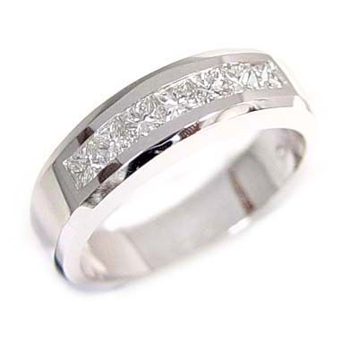 1ct Platinum Men Diamond Ring Wedding Anniversary Men S Mens Rings Wedding Diamond Mens Diamond Wedding Men Diamond Ring