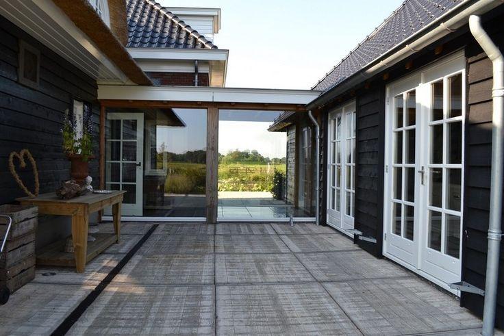 Afbeeldingsresultaat voor glazen gang tussen huis en annexe deur wonen pinterest google - Gang huis ...