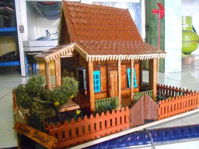 Rumah Dari Stik Es Krim Diy And Crafts Pinterest Popsicle
